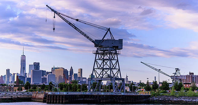 Red Hook Cranes of WW2 by William Cruz
