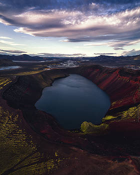 Red Hot Crater by Tor-Ivar Naess