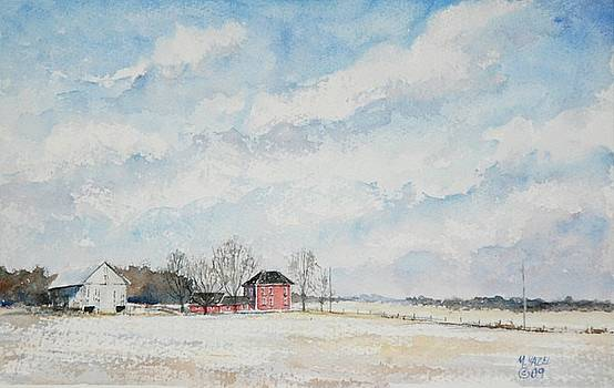 Red House Gray Barn by Mike Yazel