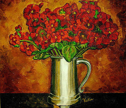 Red Hydrangeas by Vickie Warner