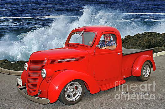 Red International Truck by Randy Harris