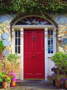 Red Irish Door by Ann Sullivan