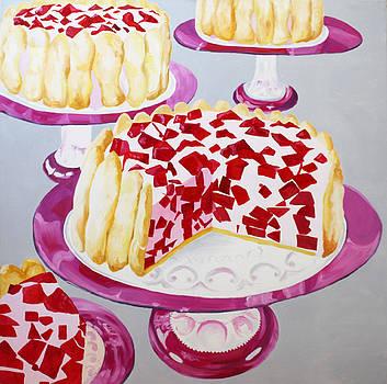 Red Jello Cakes by Michelle Fattibene