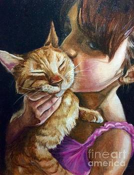 Red kitty love by Hilary England