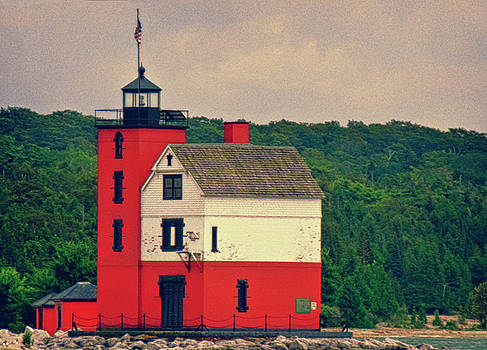 Red Lighthouse HDR by Tony Grider