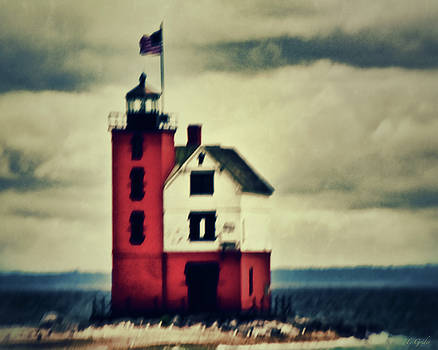 Red Lighthouse by Tony Grider