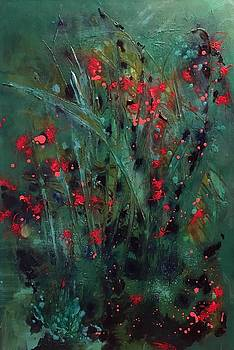 Red lilies by Holly Suzanne