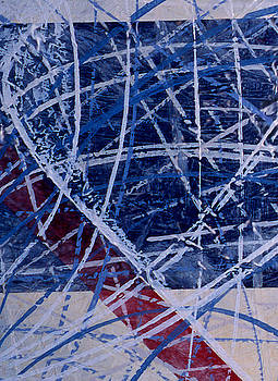 Red Line Blue Line by Ken Yackel