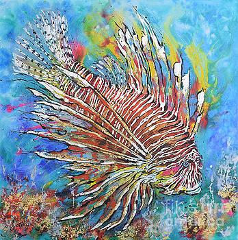 Red Lionfish by Jyotika Shroff