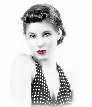 Red Lips Retro by Roger McBee