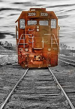 James BO Insogna - Red Locomotive