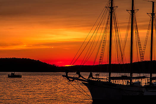 Red Maine Sunrise by Steven Bateson