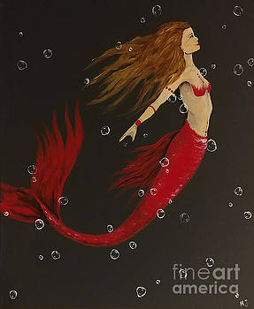 Red mermaid by Heather James