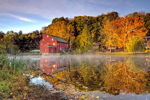 Red Mill in Clinton New Jersey series by Geraldine Scull