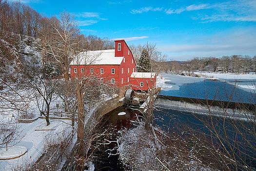 Red Mill in winter by John Majoris