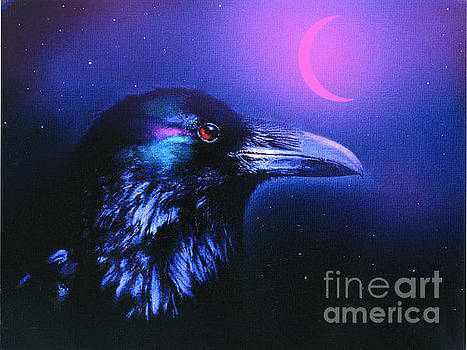Red Moon Raven by Robert Foster
