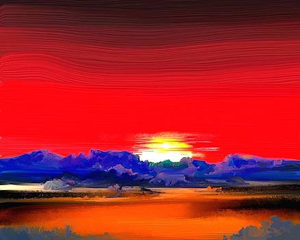 Red Morning by Donn Kay