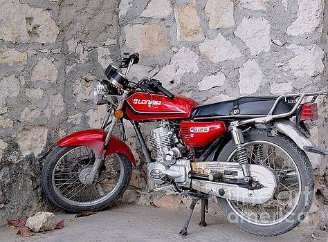 Red motorbike  by Inessa Williams