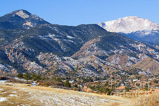 Steve Krull - Red Mountain and Snow covered Pikes Peak