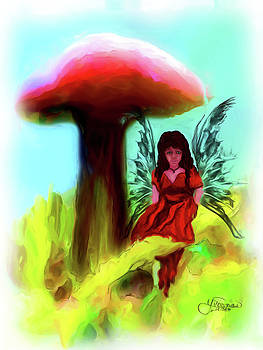 Darlene Bell - Red Mushroom Fairy