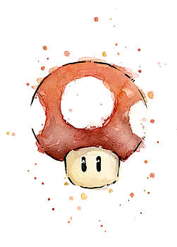 Olga Shvartsur - Red Mushroom Watercolor