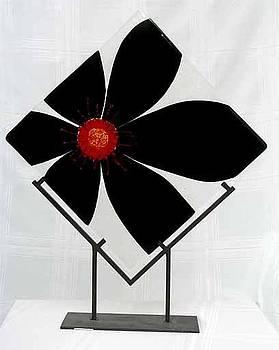 Red n Black Flower by Sandy Feder