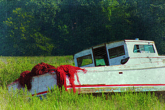 Red Net Boat by Sheryl Bergman