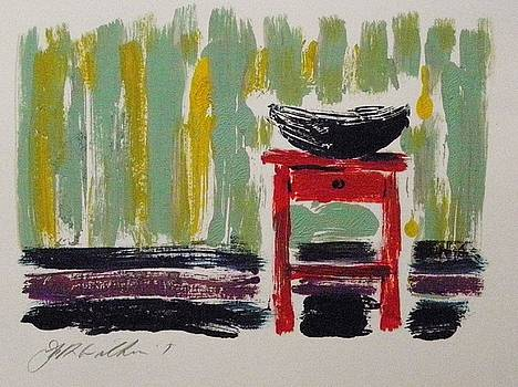 Red Nightstand by John Williams