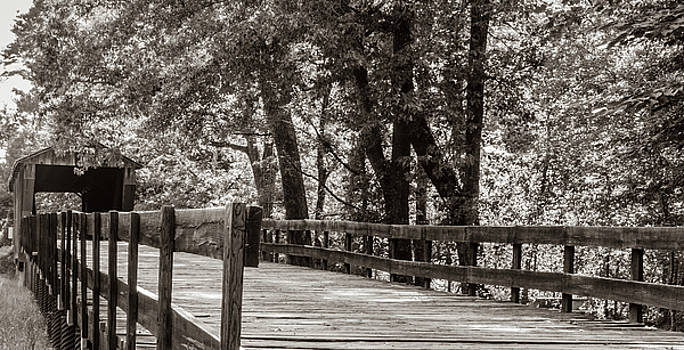 Red Oak Creek Covered Bridge Approach by Randy Bayne