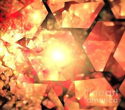 Red Orange Crystals by Kim Sy Ok