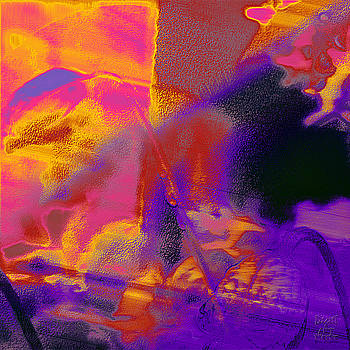 Dee Flouton - Red Orange Purple Abstract