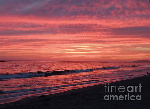 Red Orange Sunset by Robert Ball