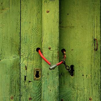 BERNARD JAUBERT - Red padlock