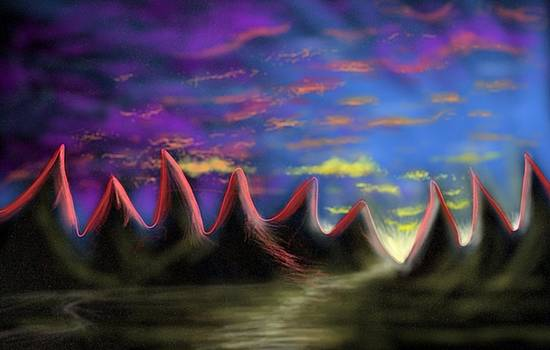 Red Peaks by Ebenlo - Painter Of Song