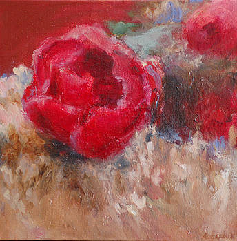 Red Peony by Allison Carlos