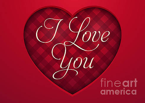 Red Plaid Love by JH Designs