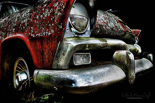 Red Plymouth Belvedere by Glenda Wright