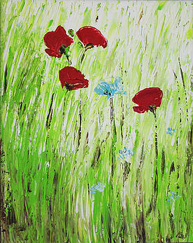 Red Poppies by Gaynell Parker