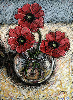 Red Poppies by Karla Beatty