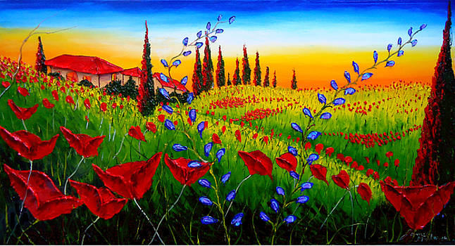 Red Poppies Of Tuscany #1 by Portland Art Creations