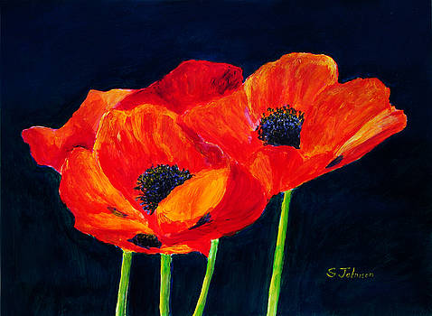 Red Poppies by Suzanne Johnson