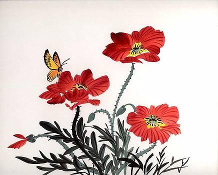 Red Poppies by Yolanda Koh