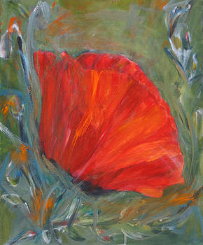 Red Poppy by Denice Palanuk Wilson
