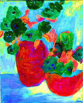 Red Pots by Lynn Rogers
