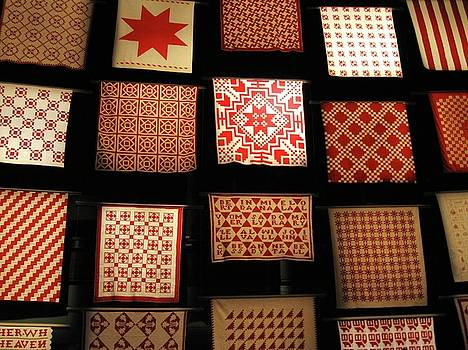 Red Quilts 2 by Maria Scarfone