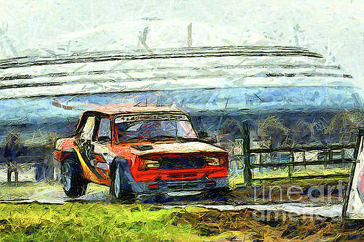 Red rally car by Magomed Magomedagaev