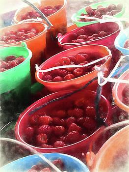 Red Raspberries by Winnie Chrzanowski