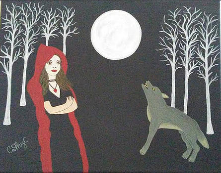 Red riding hood and wolf by Catherine Velardo