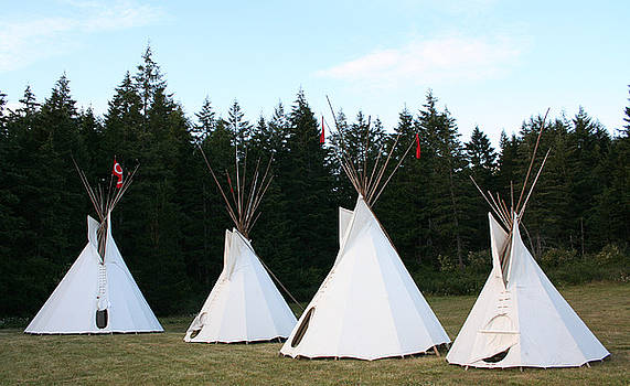 Red River West Metis Tepee by Sherry Leigh Williams