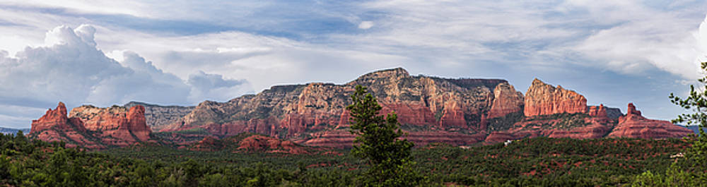 Red Rock and Blue Skies by Ron McGinnis